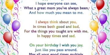 Mom's Birthday Poem
