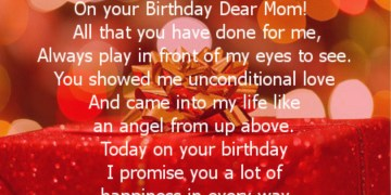 Dear Mom Birthday Poem