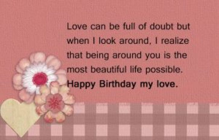 Lover's Cute Birthday Messages