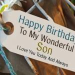 Son Happy Birthday Wishes