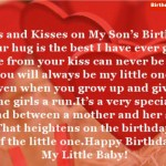 Hugs & Kisses on My Son's Birthday