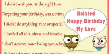 Belated Happy Birthday My Love