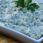No Cook Spinach Artichoke Dip