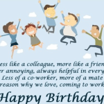 Colleagues Birthday Wishes