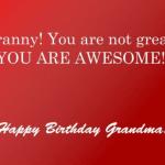 Grandma Birthday Messages