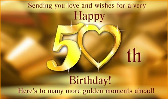 50th Birthday Wishes Quotes Messages Birthdaywishings