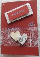 Diamantene Hochzeit Einladung / Einladungskarte