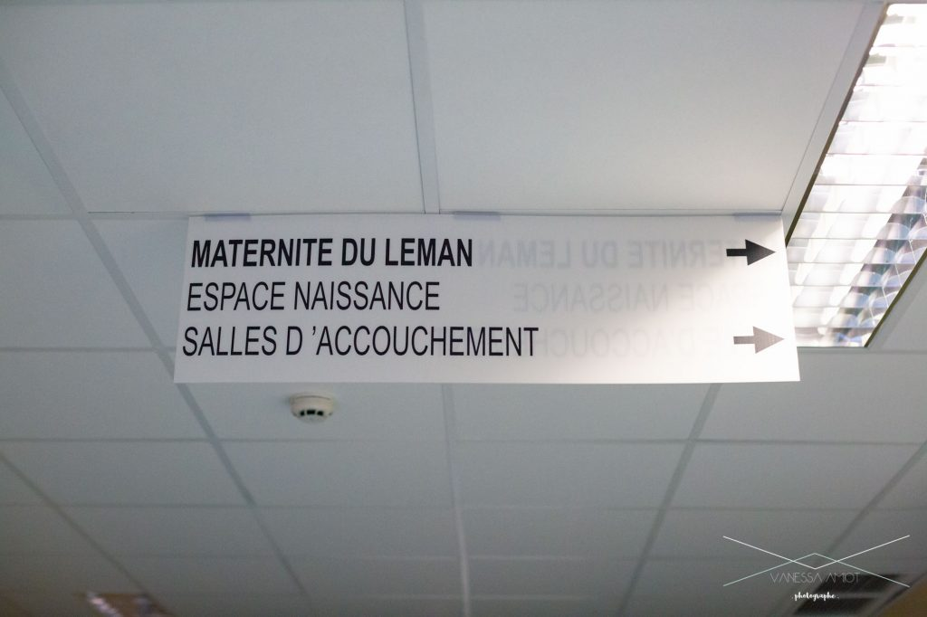 Hospital-sign-going-into-labor-and-delivery-thonon-maternity-hospital-france