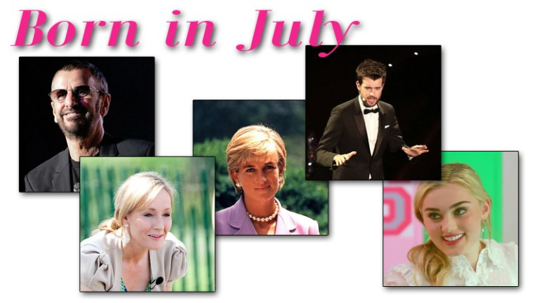 Famous People Born in July