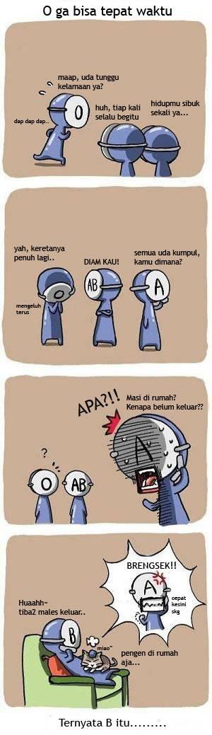 komik golongan darah 3