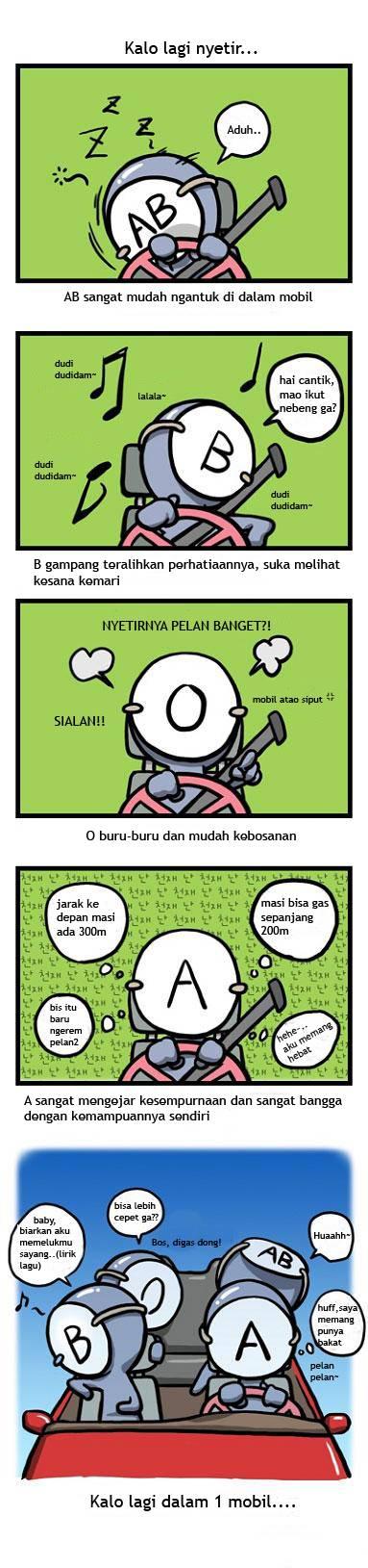 komik golongan darah 7