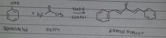reaksi dibenzalpropanon