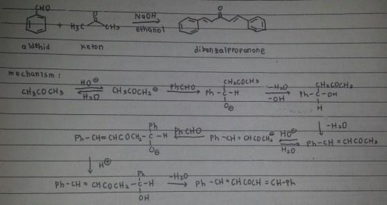 Mekanisme reaksi dibenzalpropanon