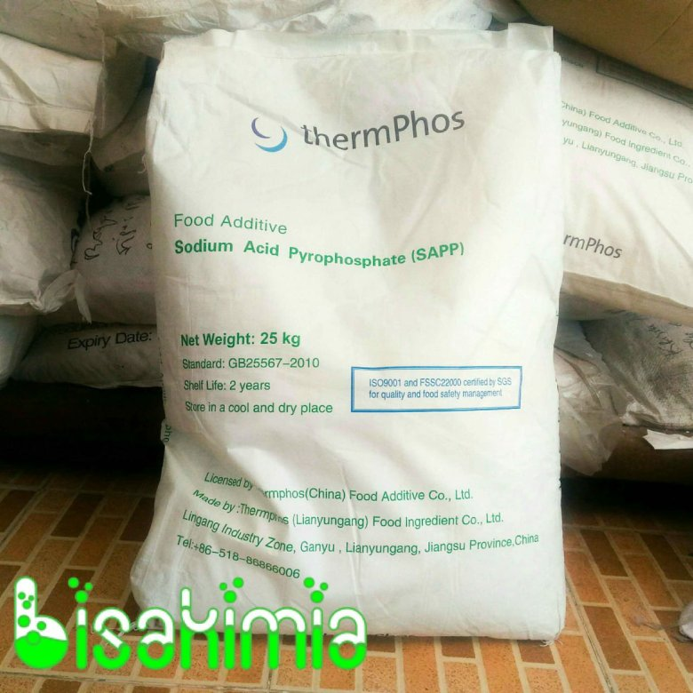 Jual SAPP (Sodium Acid Pyrophospate) Food Grade