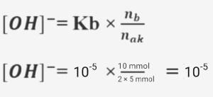 Rumus besar pH penyangga basa