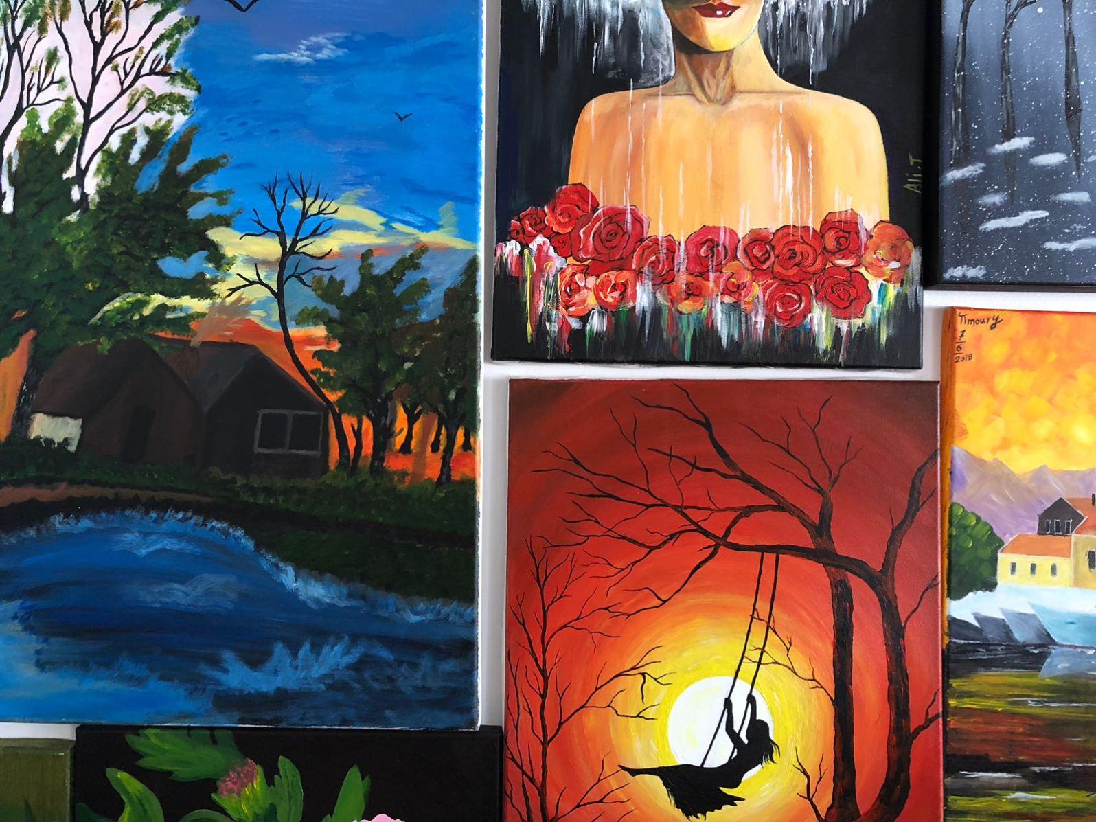 Die Gefluchteten konnen sich in Workshops künstlerisch ausleben