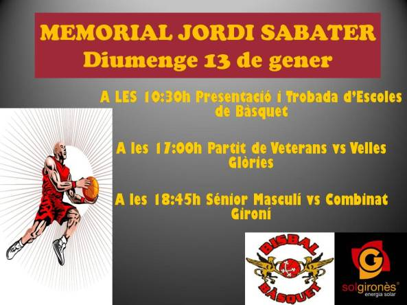 MEMORIAL JORDI SABATER 2013