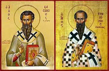 Resultado de imagem para santi basilio e gregorio