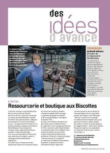 Des idées d'avance - Ressourcerie et boutique aux Biscottes (Article publié dans le journal Métropole mai-juin-juillet 2013)