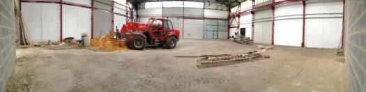 Une vue récente des travaux dans le futur magasin de la Ressourcerie