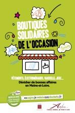 """Couverture du livret """"Boutiques solidaires de l'occasion"""" édité par le CG 49"""