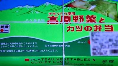 山梨県・小淵沢駅「高原野菜とカツの弁当」