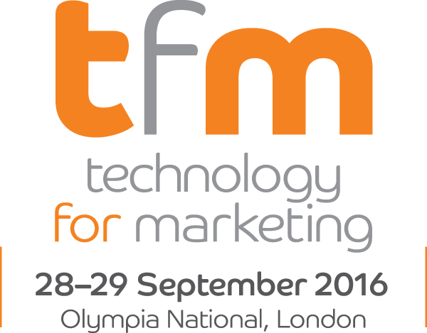 Logo for the technology for marketing event, one of the upcoming London marketing events in 2016