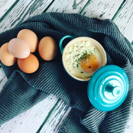 This easy oeuf en cocotte recipe can be made ahead, is ready in minutes, and is sure to impress at your next brunch.
