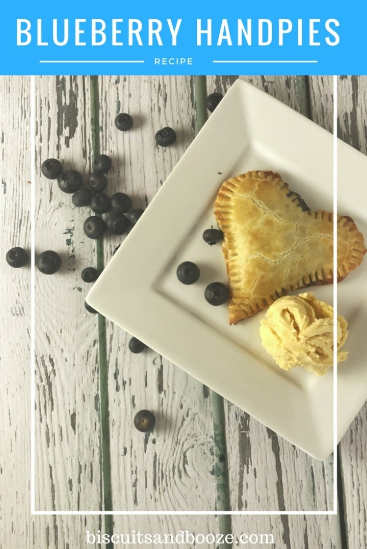 These heart shaped blueberry hand pies are a fun treat for adults or kids, for Valentine's, or any time! #baking #valentinesbaking #handpies #fruitpies #holidaybaking #blueberryhandpie #vegetarian