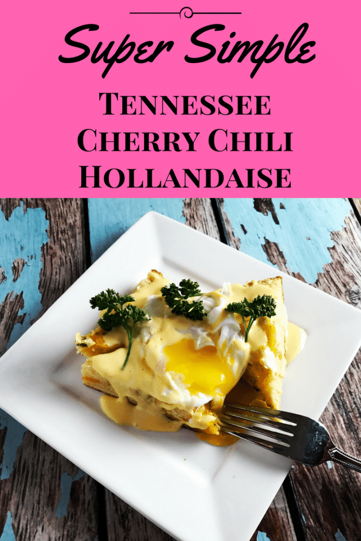 Jazz up brunch with this Super Simple Tennessee Cherry Chili Hollandaise Sauce, which has an easily adjustable spice level, & is ready in less than 10 mins. www.biscuitsandbooze.com