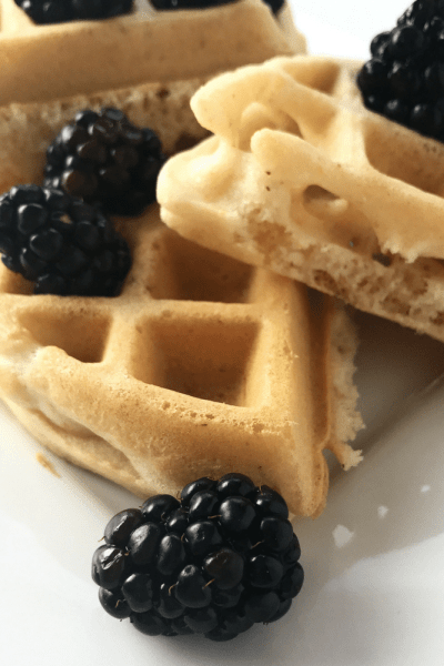 Blood Orange Scented Cornmeal Vegan Waffles