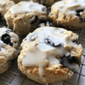 Lemon Iced Blueberry Biscuits