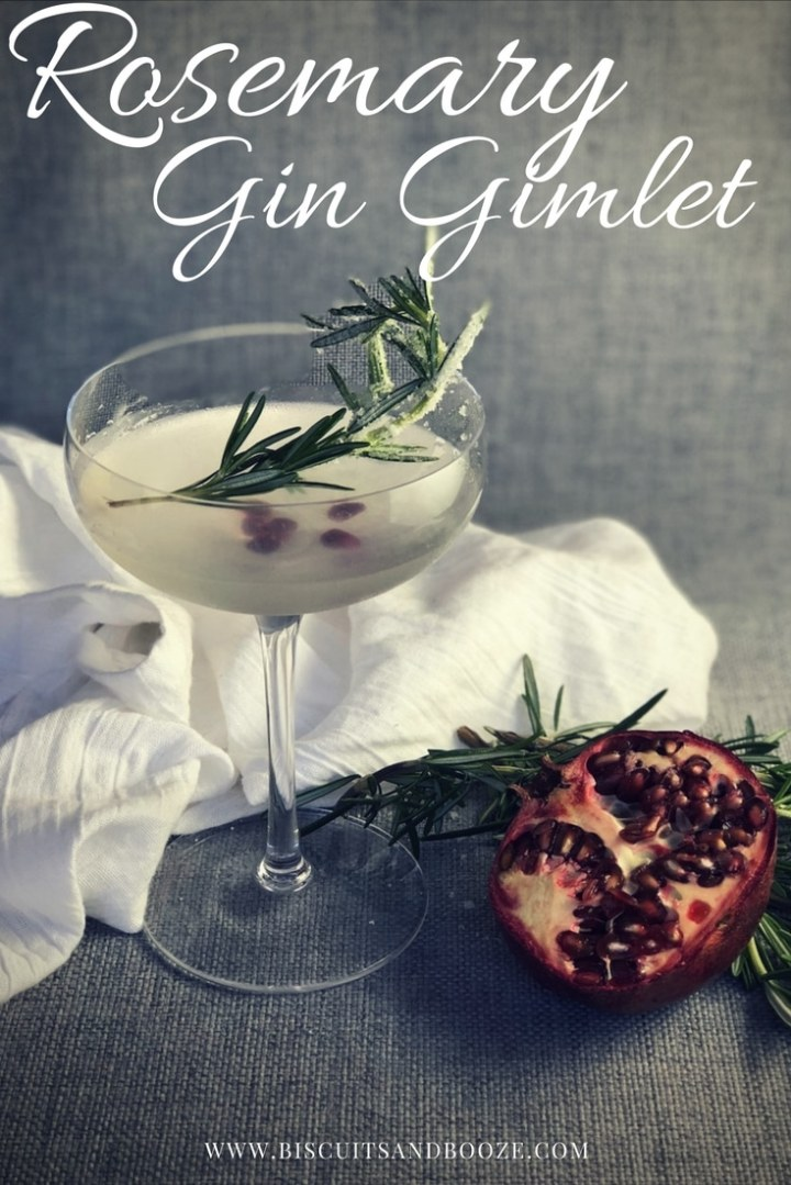 This rosemary gin gimlet is a light, lovely cocktail. Full of herbaceous sweetness, it is also easy to make for one or for a crowd, and looks effortlessly elegant with any number of garnishes. #cocktail #craftcocktail #gincocktail #howtomake #gingimlet #simple #syrup #drinks #summer