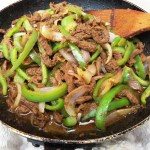 Simple beef and bell pepper stir-fry