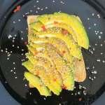 Sesame avocado on toast