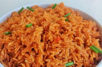 Jollof got a make over with coconut milk, try this, thank me later!