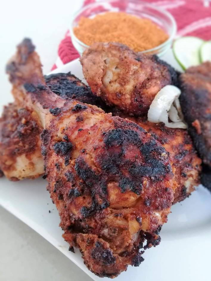 The utimate grilled chicken using Ghana's kyinkyinga pepper (chinchiga) or suya spice as it is called by some West Africans.