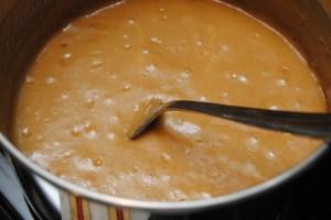 Caramel sauce done