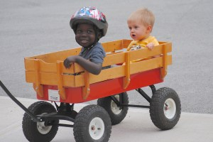 Elijah and Beckett Wagon
