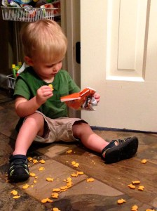 Beckett and goldfish
