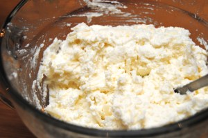 RIcotta goat cheese mixture