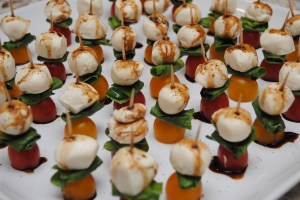 Caprese Skewers with Balsamic Reduction