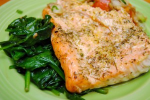 Lemon Herb Salmon Dinner