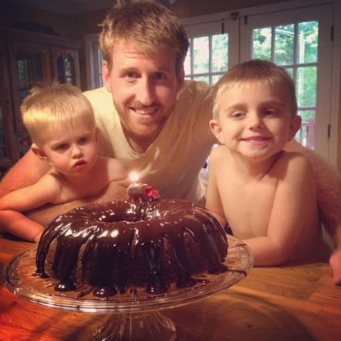 Father's Day Brownie Bundt Cake