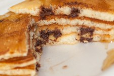 Chocolate Chip Pancakes Stack Cut