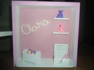 quadro de porta maternidade - Clara