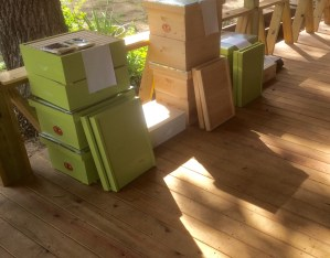 Complete hives ready to go!
