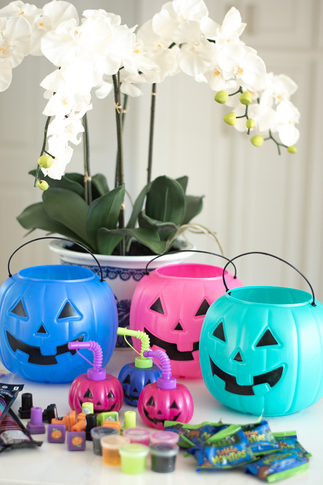 colorful pumpkins and halloween reats