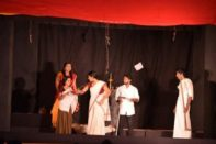 College Team performs drama ( which won First prize in University Drama Festival)