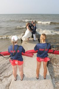 on location Lake Erie Ohio Bishop Photography wedding photographer